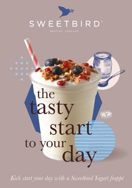 Yogurt Breakfast Frappé poster