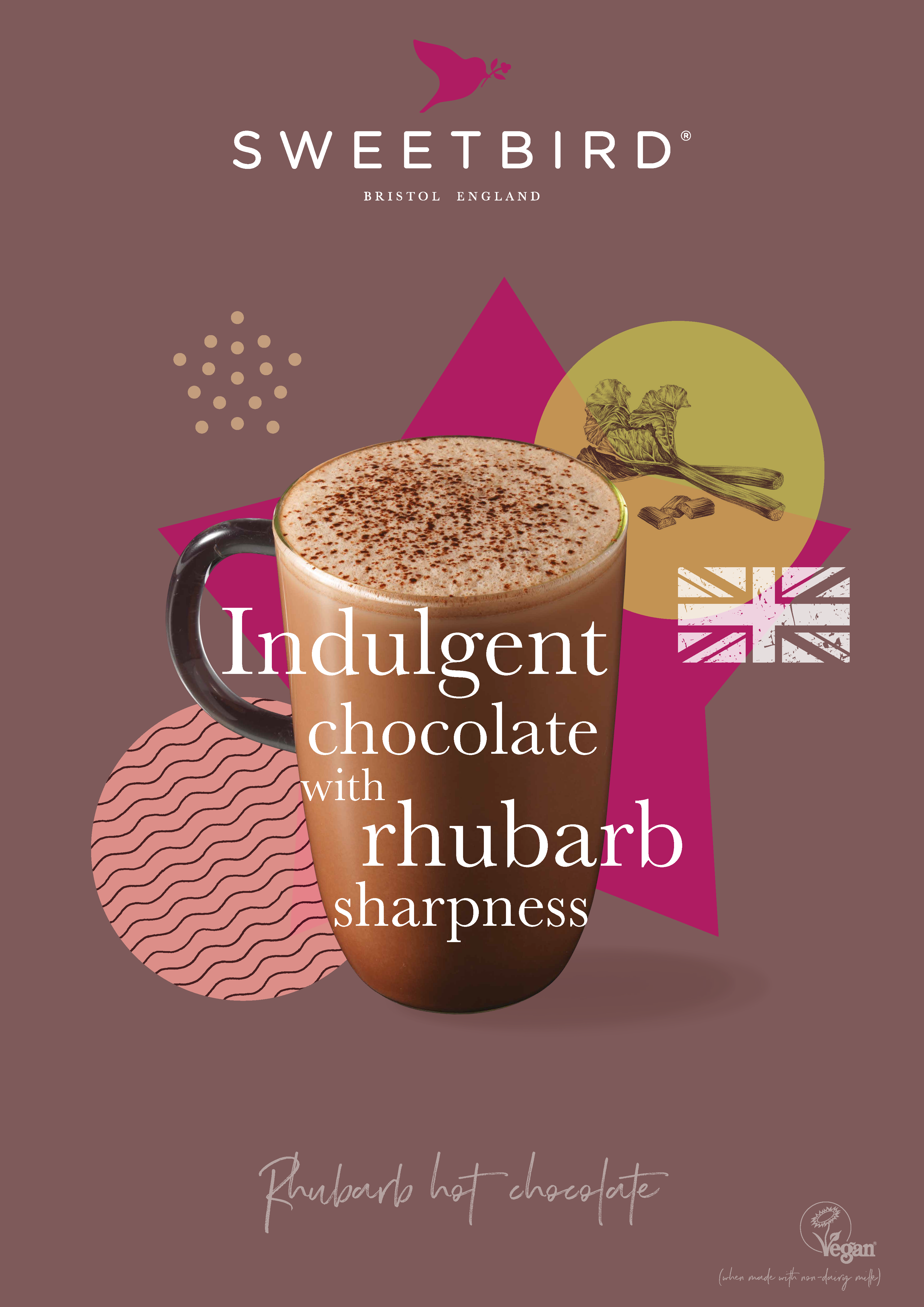 Rhubarb Hot Chocolate Poster