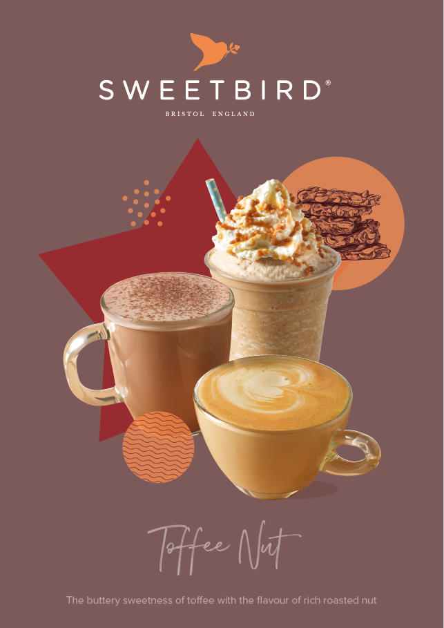 Toffee Nut syrup poster
